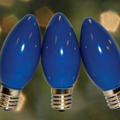 C9 Bulbs Opaque Blue