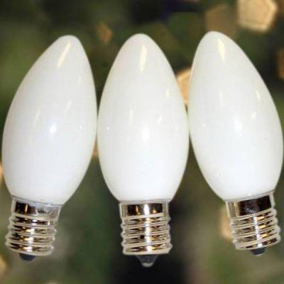 C9 Bulbs Opaque White