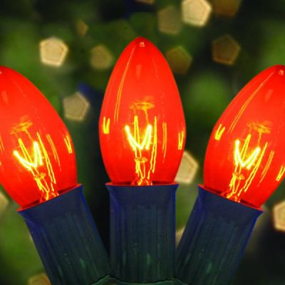 C9 Bulbs Transparent Amber