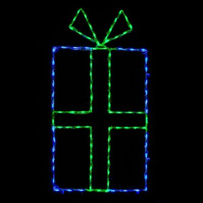 LED Giftbox Blue/Green