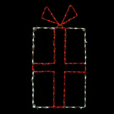 LED Giftbox Red/white