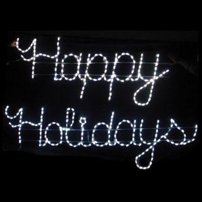 LED Happy Holidays (White)