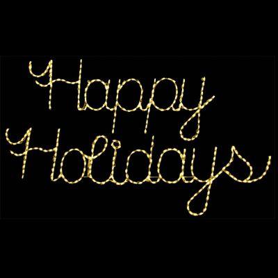 LED Happy Holidays (Warm White)