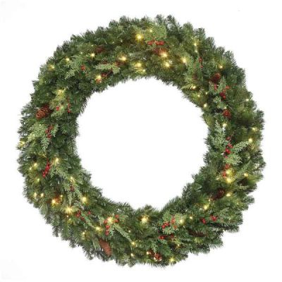 LED-72MPWRWWC - LED Mountain Pine Wreath - 72