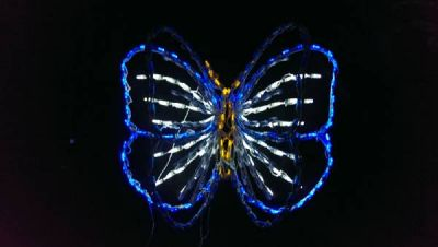 LED 3D Animated Butterfly Morpho