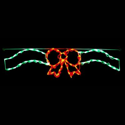LED Bow/Ribbon Linkable Red/Green