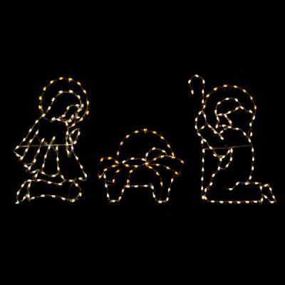 LED C7 Nativity Scene