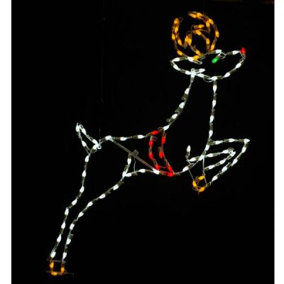 LED C7 Leaping Reindeer