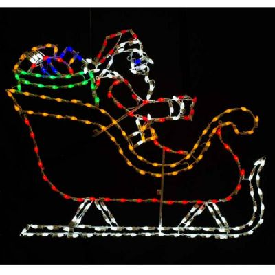 LED C7 Santa in Sleigh