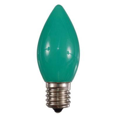 LED C9 Bulb Opaque (Green)