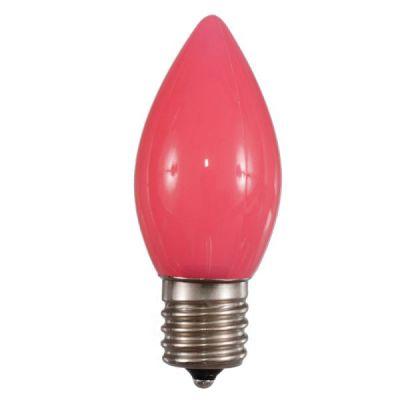 LED C9 Bulb Opaque (Pink)