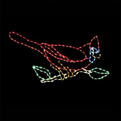 LED-CRD60L - LED Cardinal on Branch (Large)