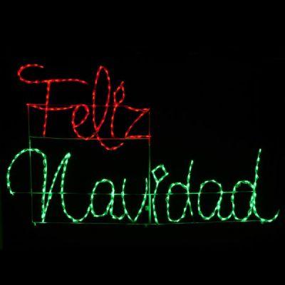 LED Feliz Navidad in Red/Green
