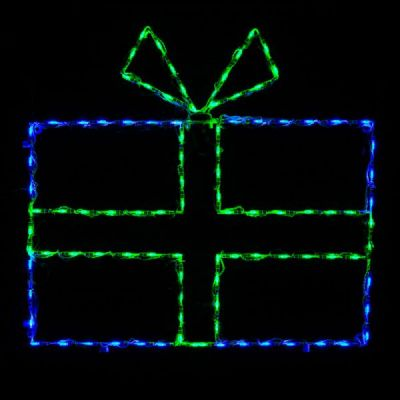LED Giftbox Blue/Green