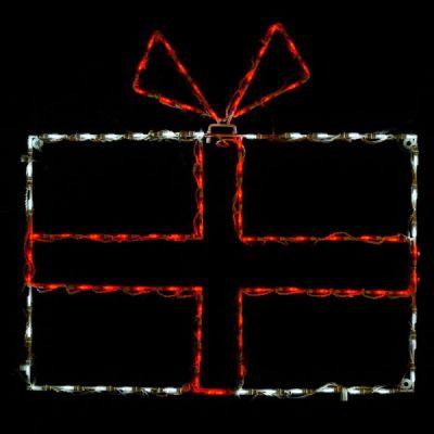 LED Giftbox Red/white