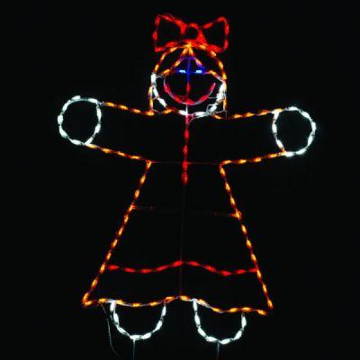 LED Gingerbread Girl
