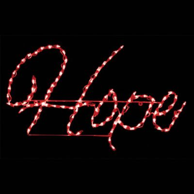 LED Hope Sign (Red)