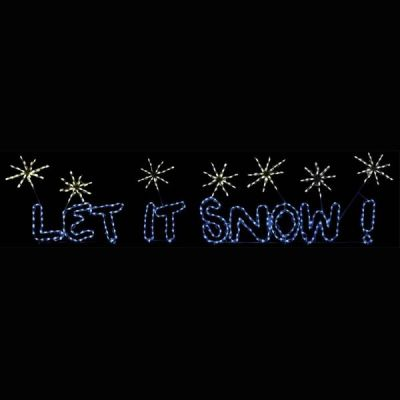 LED Let it Snow Sign