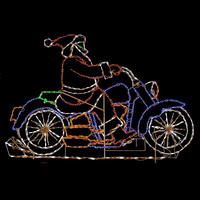 LED Santa on Motorcycle
