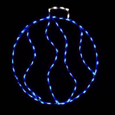 LED Swirl Ornament, Small (Blue)
