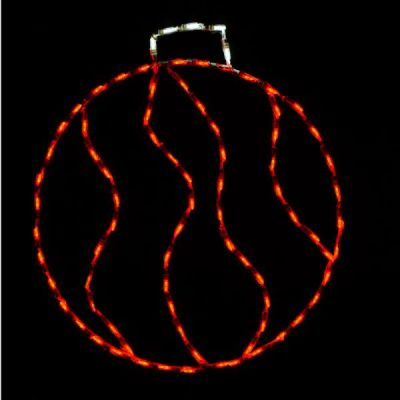 LED Swirl Ornament, Small - Red