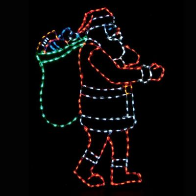 LED Santa with bag