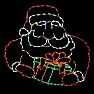 LED Santa with Gift