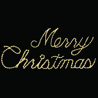 LED Merry Christmas (Warm White)
