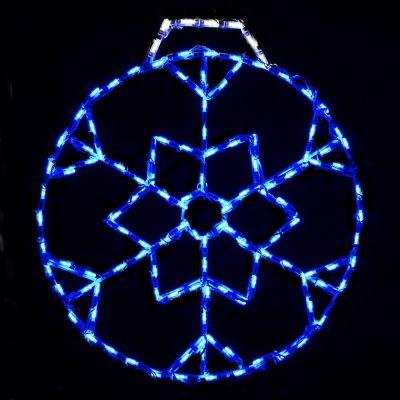 LED Snowflake Ornament, Small (Blue)