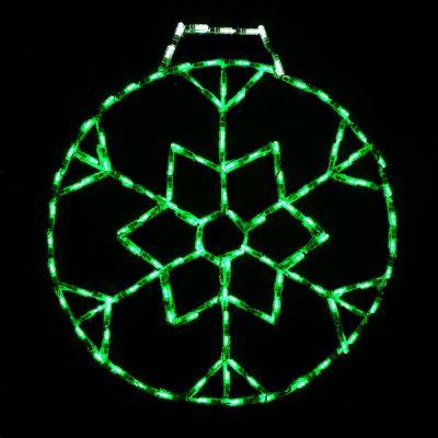 LED Snowflake Ornament, Small (Green)