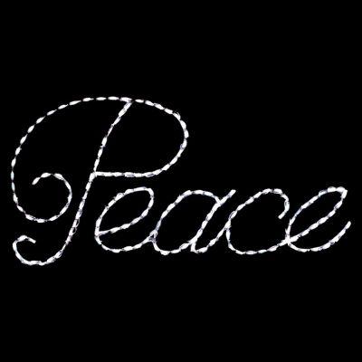 LED Peace (White)