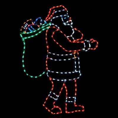 LED Santa with bag