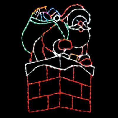 LED Santa in Chimney