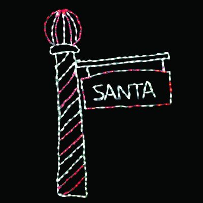 LED Santa's Light Pole