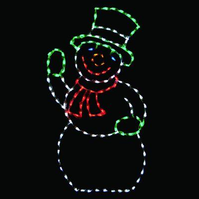 LED Snowman (Green hat)