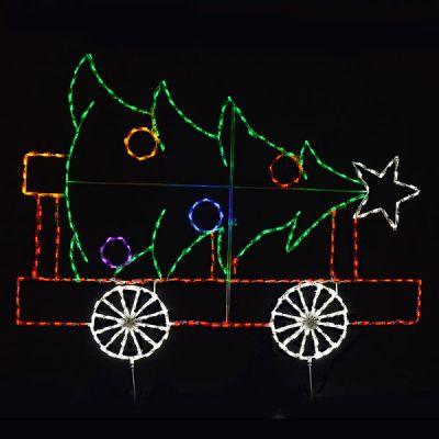 Train Car with Christmas Tree
