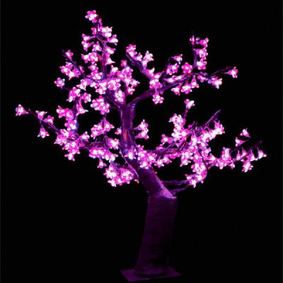 Cherry Blossom Table Top Tree Purple