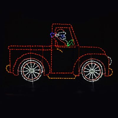 Animated Santa in Truck