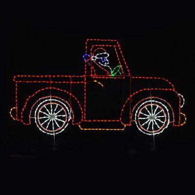 Animated Santa in Truck