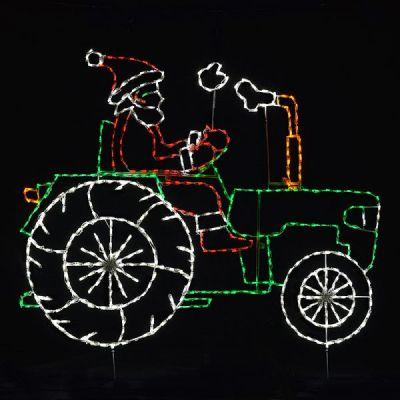Animated Santa on Tractor