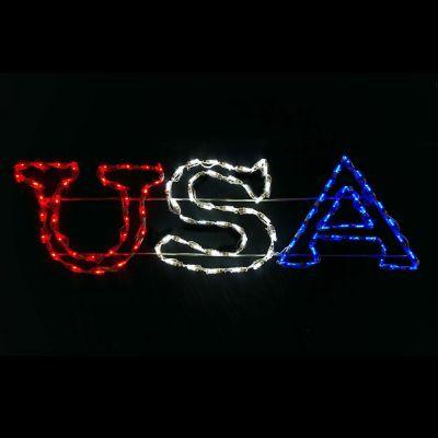 LED USA Sign (RWB)