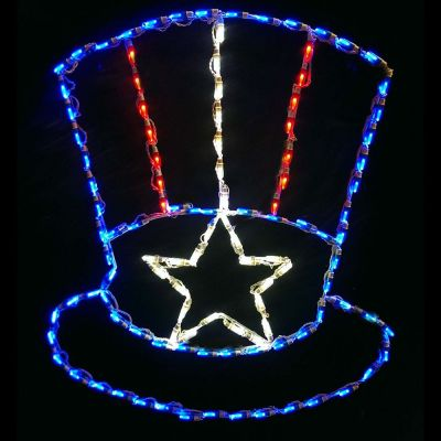 LED Uncle Sam Hat (RWB)