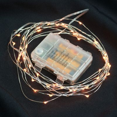 Wire Lights- 50 Bulbs Battery Operated Orange
