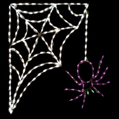 LED Spider w/ Corner web